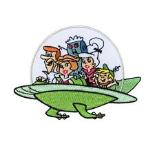 Jetsons Family Spaceship Iron-On Patch Retro Kids Cartoon Craft Apparel Applique