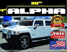 Hummer H3 ALPHA Windshield Vinyl Decal Sticker white