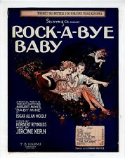 JEROME KERN EARLY BROADWAY Sheet Music 1918 There's No Better Use For Time...