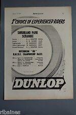R& L Ex-Mag Advert: Dunlop Tyres Shrubland Park / KLG Spark Plugs Norton, A.J.S