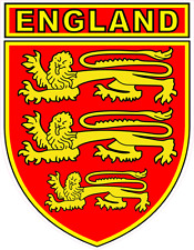 ENGLAND CAR WINDOW STICKER WITH 3 LIONS SHIELD DESIGN - Patriotic, Decal