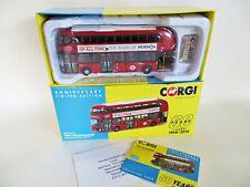CORGI OM46613 'NEW ROUTEMASTER RED LONDON BUS' 1:76. MIB/BOXED. 60th ANNIVERSARY