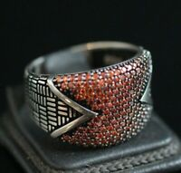 925 Sterling Silver Handmade Authentic Turkish Quartz Men's Ring Size 7-13