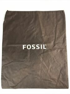 """Fossil Large Brown Drawstring Dust Bag 19.5"""" W X 23"""" H"""