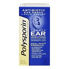 POLYSPORIN Plus Pain Relief Antibiotic Ear Drops 15 Ml
