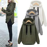 Womens Hoodies Sweatshirt Long Sleeve Jumper Hooded Pullover Tops Coat Blouse CA