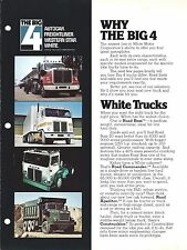 Truck Brochure White The Big 4 Autocar Freighliner Western Star c1974 (T1801)