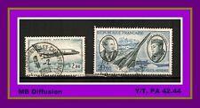 1965-70 -Timbre France/OBL -- Poste Aérienne**Yt. PA.42/44 - OB.5