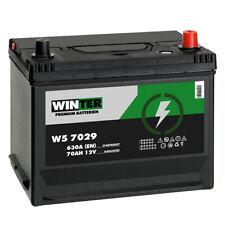 Winter Asia Autobatterie 12V 70Ah 630A/EN hohe STARTKRAFT +Pluspol Rechts 80Ah