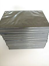 Set of 11 New, Empty, Standard-Thickness, Black DVD Cases w Wrap-Around Sleeves