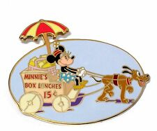 LE 500 Disney Auctions Pin✿Minnie Mouse Lunch Wagon Pluto Classic Pie Eye Rare