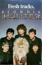 Rare Blondie The Hunter 1982 Vintage Orignal Music Record Store Promo Poster
