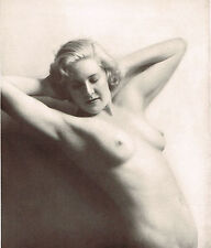 1930s Original Vintage Female Nude Alfred Cheney Johnston Photo Litho Print