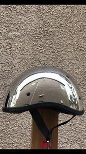 FH 36 Traditional Unisex Mens Womens Chrome Motorcycle Helmet Size Medium