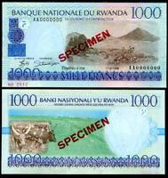 Rwanda 1000 Francs 1998 P 27 Specimen AUNC About UNC
