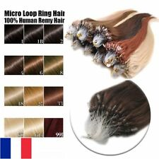 50-100-150-200 EXTENSIONS POSE A FROID CHEVEUX  NATURELS REMY 53-60CM 0,5G