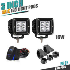 16W 3inch Spot LED Square Pod Work Fog Light For Truck Jeep Toyota Boat Driving
