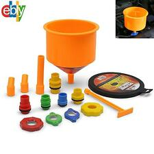 Spill-Proof Radiator Coolant Filling Funnel Kit for Car Automotive Tool System