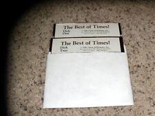 "The Best of Times! Apple II Program 5.25"" disks"