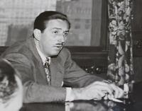 Walt Disney Oct 1941 PHOTO New York Offices Dumbo Premiere Press Photograph b/w