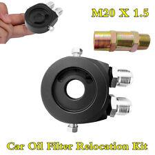 Car Oil Filter Relocation Kit Oil Temp Cooling Sandwich Plate Adapter Sensor