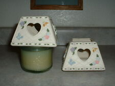 Pair of Candle Toppers Sweet Hearts Flowers & Butterflies Nwt
