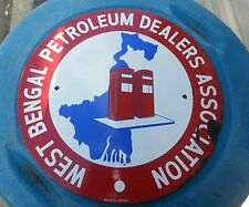 Vintage advertising  gas oil west bengal petroleum sign