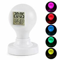CIGERA Color Changing Digital Alarm Clock with Night Light Calendar