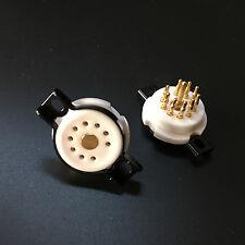 10Pcs 9Pin Ceramic Vaccum Tube Sockets for ECC88 12AX7 12AT7 ECC83 EL84 EZ81 B9A