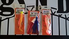 Sea fishing Boat Rigs x 3 Cod Pollack Ling boat rigs - shad + muppet boat rigs