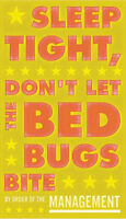 Sleep Tight Don't Let the Bedbugs Bite John Golden Print Poster Child Room 12x20
