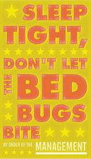 Sleep Tight Don't Let the Bedbugs Bite John Golden Print Poster Child Room 11x14