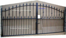 Heavy Duty Wrought Iron / metal steel Driveway Gates - Stafford - Made to order