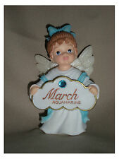 BIRTHSTONE ANGEL FIGURINE - MARCH - AQUAMARINE - JEANE'S THINGS
