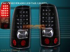 99-02 CHEVY SILVERADO / 99-03 GMC SIERRA 1500/2500 JDM BLACK TAIL LIGHTS L.E.D.