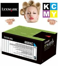 Genuine LEXMARK CYAN Laser TONER Cartridge 808XC/80C8XC CX510 808 High Yield