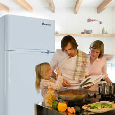 Stainless Steel Refrigerator Small Freezer Cooler Fridge 3.2 cu ft. Unit White