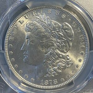 1878-7TF Morgan Dollar MS62 PCGS Reverse of 1878