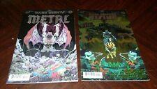 2ct DC Dark Knights Metal #3 & Rising The Wild Hunt #1 Comic Lot - Direct Sales