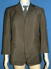 Mens Prada Made in Italy Brown Mohair & Wool Suit Jacket Blazer Size 38/48R