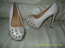 NEW  ODEON LADIES HIGH HEEL STUDS NUDE PATENT FANCY DRESS  SHOE    SIZE 6  EU 39