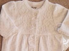 SWEET! NEW LITTLE ME PREEMIE WHITE LACE FOOTED SLEEP N PLAY OUTFIT REBORN