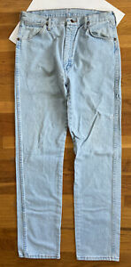 VTG 90s Wrangler 13MWZGH Jeans USA MADE Tagged 34x36 Fits 32x35 Light Wash