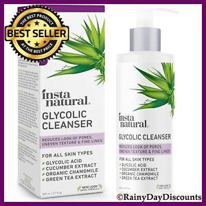 Glycolic Acid Cleanser Face Wash For Acne, Hyperpigmentation, Large Pores 6.7oz