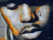 NAS HIP HOP RAPPER R&B ART PRINT POSTER OIL PAINTING LFF0133