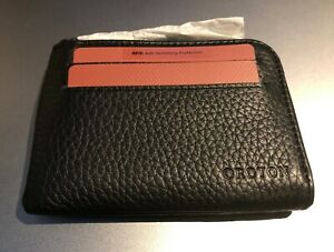 OROTON - STANFORD 8CC ZIP WALLET - Leather - RFID Blocking - Usually RRP AU$125
