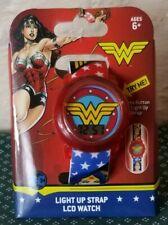Wonder Woman Girls LCD Watch Light Up Strap