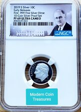 2019-S First 99.9% Silver Roosevelt Dime Proof, NGC PF 69 Ultra Cameo!