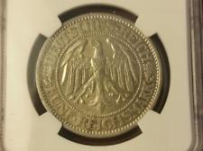 1932A Germany 5 Reichsmark NGC AU Details KM 56