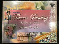 BOB ROSS Flower Oil Painting Set | 8 Oil Tubes, 4 brushes, Thinner & How To Book